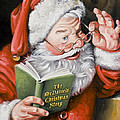 Personalized Santa Painting....instructions Are On Lower Right Side Of This Page. by Dixie Rogers