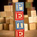 Pete - Alphabet Blocks by Edward Fielding