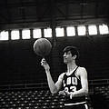 Pete Maravich Spinning Ball On Finger by Retro Images Archive