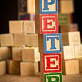 Peter - Alphabet Blocks by Edward Fielding