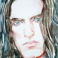 Peter Steele Watercolor Portrait by Fabrizio Cassetta