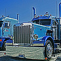 Peterbilt And Frieghtliner by Randy Harris