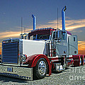 Peterbilt At The Beach  by Randy Harris