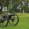 Petersburg National Battlefield Cannon And Monument by Bruce Gourley
