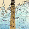 Petit Manan Island Lighthouse Me Nautical Chart Map Art by Cathy Peek