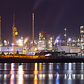 Petrochemical Plant In Night  by Ioan Panaite