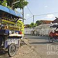 Petrol Stall And Cyclo Taxi In Solo City Indonesia by Jacek Malipan