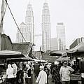 Petronas Over Kampung Baru by Shaun Higson