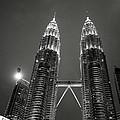 Petronas Towers At Night by Shaun Higson