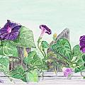 Petunias On The Fence by Tina Huffman