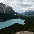 Peyote Lake In Banff Alberta by Laurel Best