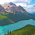 Peyto Lake Along Icefield Parkway In Alberta-canada by Ruth Hager