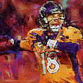 Peyton Manning Abstract 2 by David G Paul