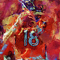 Peyton Manning Abstract 3 by David G Paul