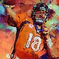 Peyton Manning Abstract 4 by David G Paul