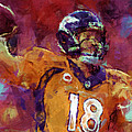 Peyton Manning Abstract 5 by David G Paul