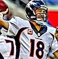Peyton Manning Throwing The Pass by Florian Rodarte