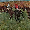Pferderennen Vor Dem Start by Edgar Degas