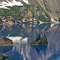 Phantom Island Ship In Crater Lake by Ellen Thane