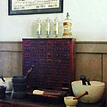 Pharmacist - Desk With Mortar And Pestles by Susan Savad