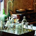 Pharmacy - Glass Funnels And Bottles by Susan Savad