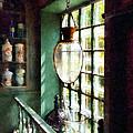 Pharmacy - Glass Mortar And Pestle On Windowsill by Susan Savad