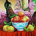 Pheasant And Fruit by Edward Skallberg