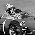 Phil Hill Ferrari Close Up by Robert Van Es