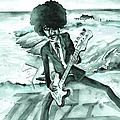 Phil Lynott In Howth by Miki De Goodaboom