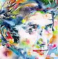 Phil Ochs - Watercolor Portrait by Fabrizio Cassetta