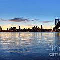 Philadelphia And The Ben Franklin Bridge by Denis Tangney Jr