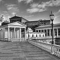 Philadelphia Art Museum And Waterworks 11 Bw by Constantin Raducan
