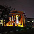 Philadelphia Art Museum  At Night From The Rear by Bill Cannon
