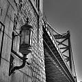 Philadelphia Benjamin Franklin Bridge 2 Bw by Constantin Raducan