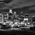 Philadelphia Black And White Cityscape by Bill Cannon