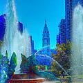 Philadelphia City Hall And Swan Fountain 2  by Constantin Raducan