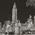 Philadelphia City Hall Mono by Nick Zelinsky