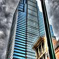 Philadelphia Liberty Place Tower And Street Lamp 1 by Constantin Raducan
