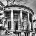 Philadelphia Merchants Exchange Bw by Constantin Raducan