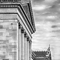Philadelphia Museum Of Art Facade Bw by Jerry Fornarotto