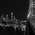 Philadelphia Night B/w by Jennifer Ancker