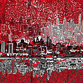 Philadelphia Skyline Abstract 4 by Bekim Art