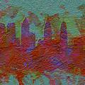 Philadelphia Skyline Brick Wall Mural by Brian Reaves