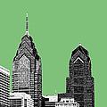 Philadelphia Skyline Liberty Place 2 - Apple by DB Artist