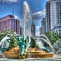 Philadelphia  Swan Fountain 1 by Constantin Raducan