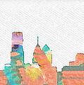 Philadelphia Watercolor Cityscape by Bill Cannon