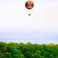 Philadelphia Zoo Balloon Over The Schuylkill River by Bill Cannon