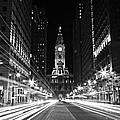 Philadephia City Hall -- Black And White by Stephen Stookey