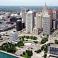 Philip A Hart Plaza Detroit by Bill Cobb
