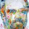 Philip K. Dick Watercolor Portrait.2 by Fabrizio Cassetta
